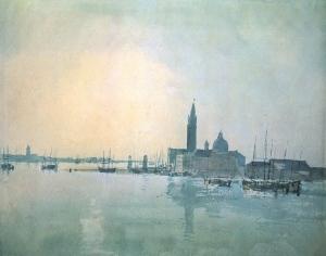 Joseph-Mallord-William-Turner-Paintings-Venice-San-Giorgio-Maggiore-in-the-Morning